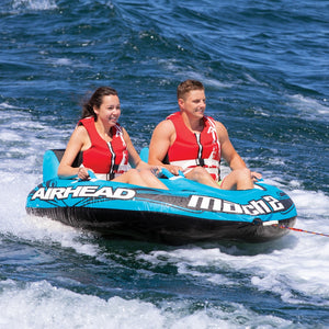 Mach 2 - 2 person inflatable towable cockpit tube with inflatable floor and comfortable handles