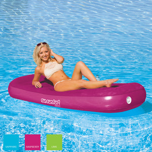 Airhead-Sun Comfort Cool Suede Pool Lounge-Raspberry