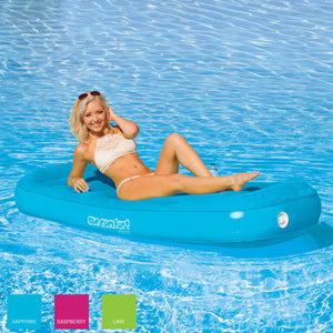 Airhead-Sun Comfort Cool Suede Pool Lounge-Sapphire