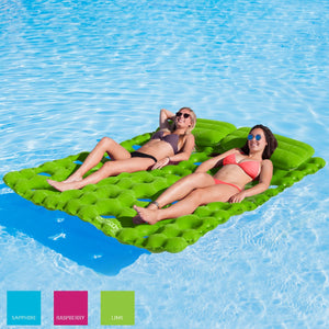Airhead-Sun Comfort Cool Suede Double Pool Mattress-Lime
