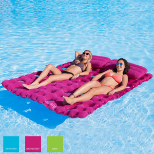 Airhead-Sun Comfort Cool Suede Double Pool Mattress-Raspberry