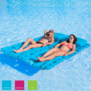 Airhead-Sun Comfort Cool Suede Double Pool Mattress-Sapphire