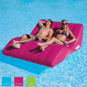Airhead-SunComfort Cool Suede Zero Gravity Double Lounge-Raspberry