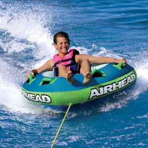 Slide - 1 person steerable inflatable tow tube - 56 in. (deflated) triangular tube