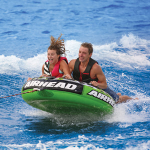 Slice - inflatable 2 rider tow tube with a tapered construction for easy boarding and starts