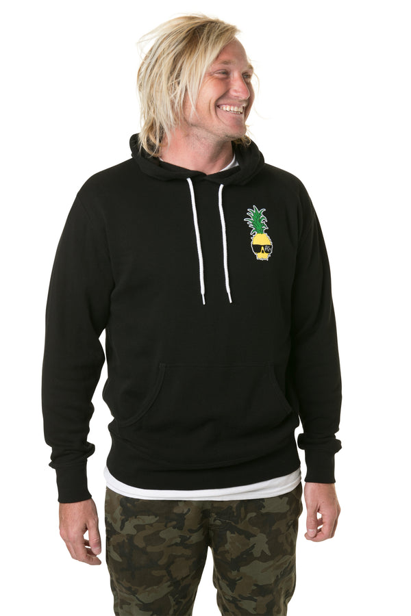 Ben Gravy Pineapple Pullover Hooded Fleece - Black