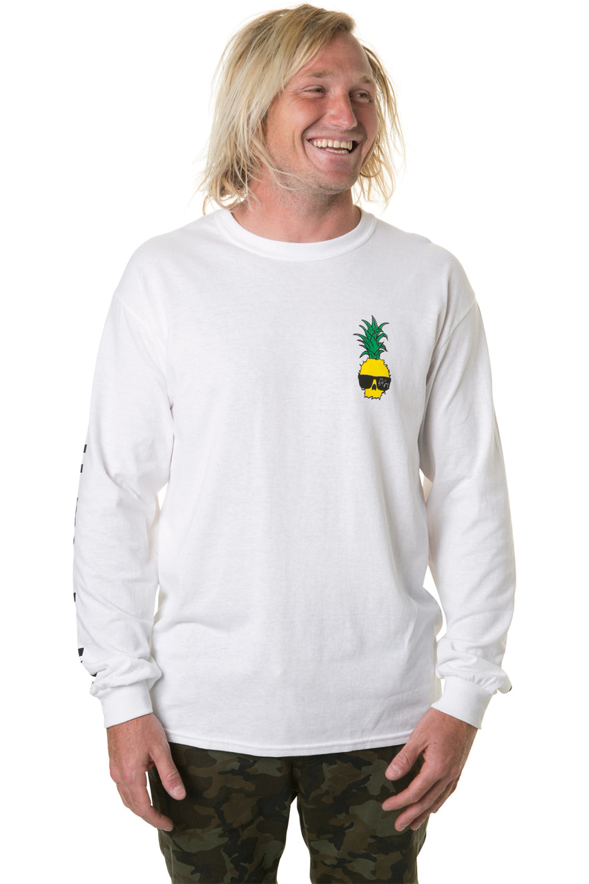 Ben Gravy Fully Nuking L/S Tee - White