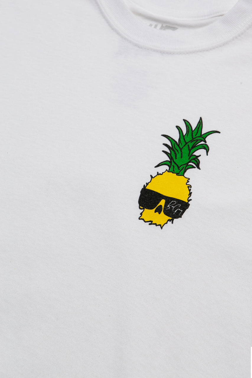 Ben Gravy Youth Pineapple S/S Tee - White