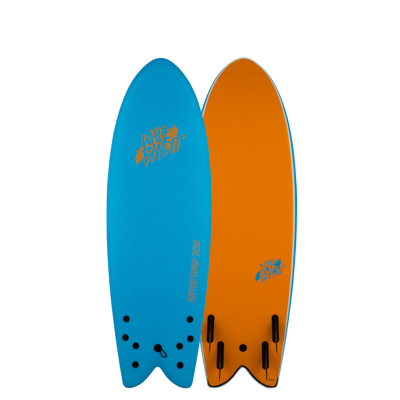 "Wave Bandit Retro Fish 5'8""Quad"