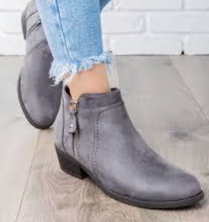 Womens grey winter ankle boots
