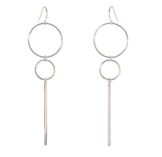 Silver earrings from Purpose Jewelry