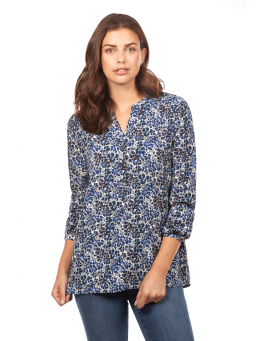 Floral print popover top