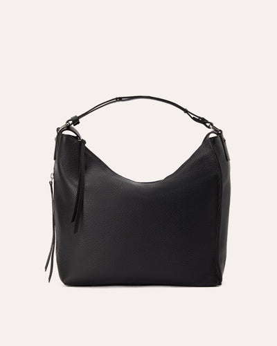 Versatile Shoulder bag Black-Kiko Leather