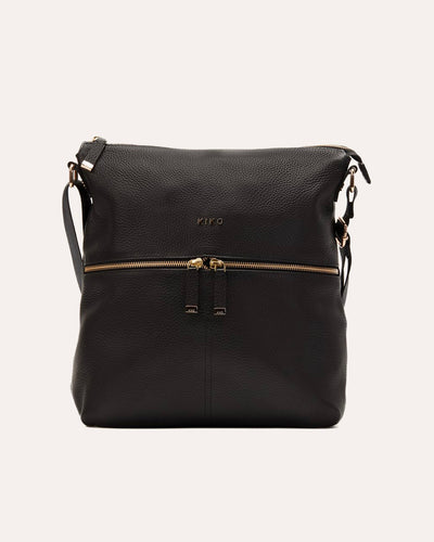 Zip Tote Black-Kiko leather