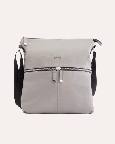 Zip Tote Grey-Kiko leather