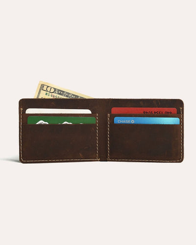 Straight cut bifold wallet-Kiko Leather