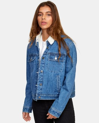 Spitting Image Denim Jacket-RVCA