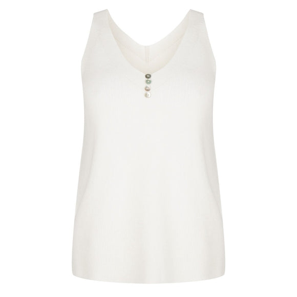 Esqualo SP21.03017  Top Camisole buttons off white