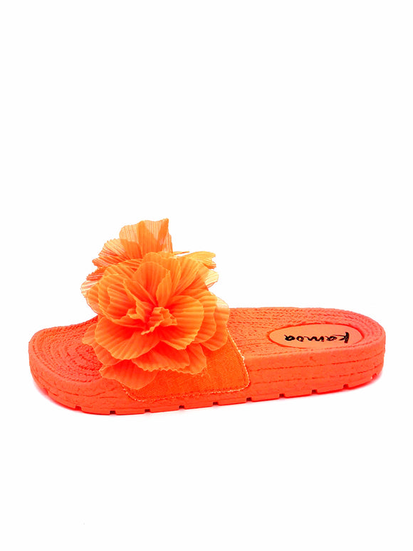 Kamoa neon orange Pantolette 2425