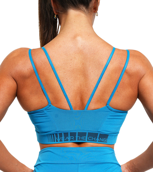 Charging Sports Bra - Seaport Blue