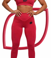 V1.1 Leggings - Rasberry Red