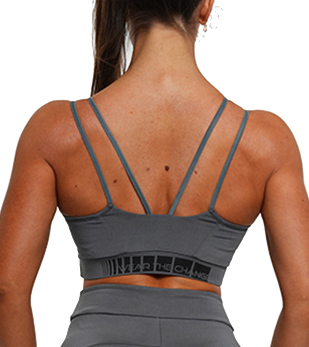 Charging Sports Bra - Anthracite