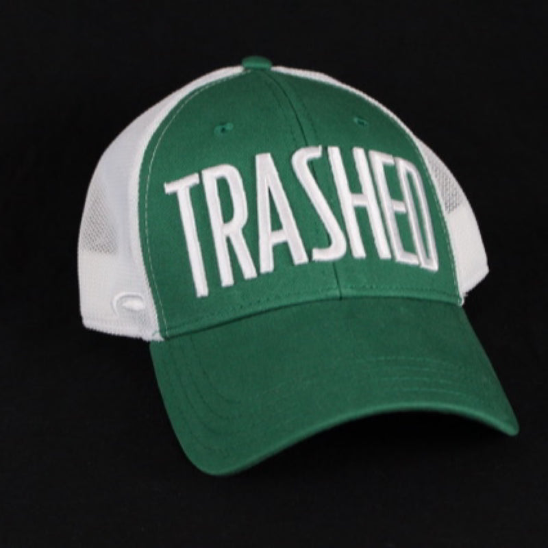 "Handmade ""TRASHED"" adjustable hat"