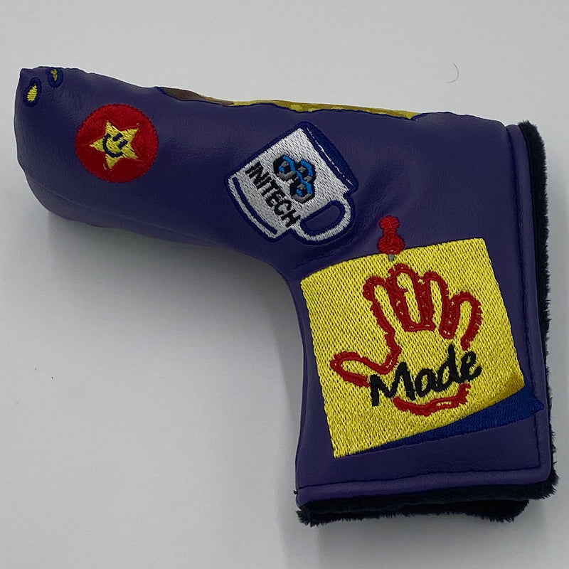 PROTOTYPE Handmade OFFICE SPACE Putter Headcover - Purple