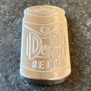 Handmade DUFF Beer Stainless Steel Ball Marker