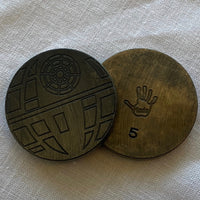 Handmade Blackened DEATH STAR Ball Marker