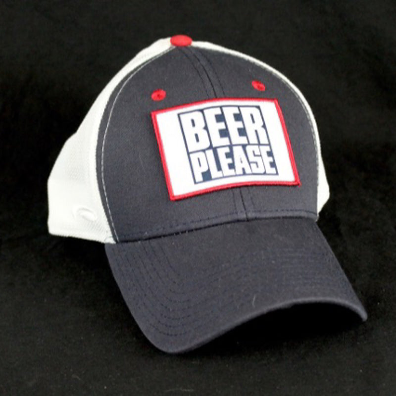 "Handmade ""BEER PLEASE"" adjustable hat"
