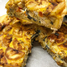 Load image into Gallery viewer, WHOLE SALTFISH & PLANTAIN QUICHE