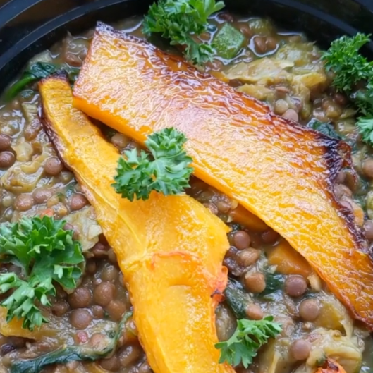 GREEN LENTIL SUMMER BOWL