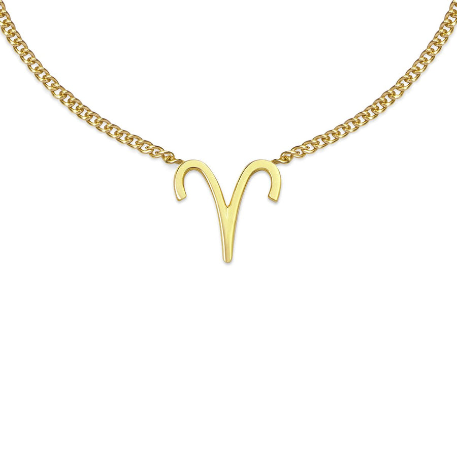 The Ekfrasis Zodiac Aries 18K Gold Plated Silver 925° Necklace