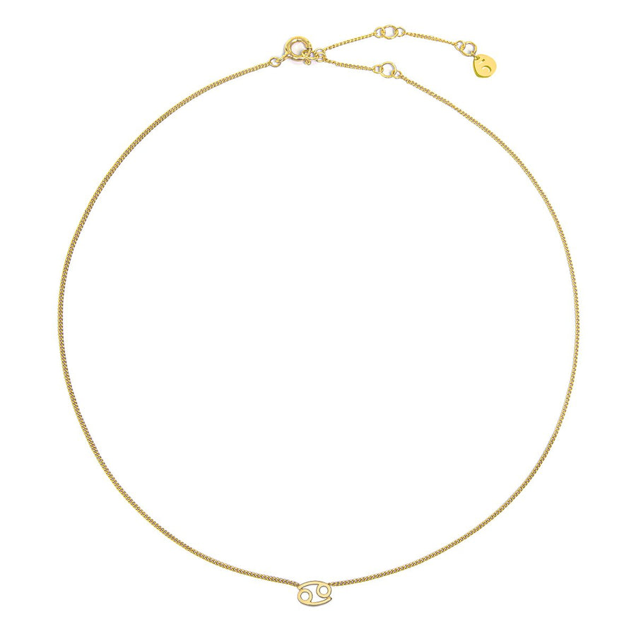 The Ekfrasis Zodiac Cancer 18K Gold Plated Silver 925° Necklace