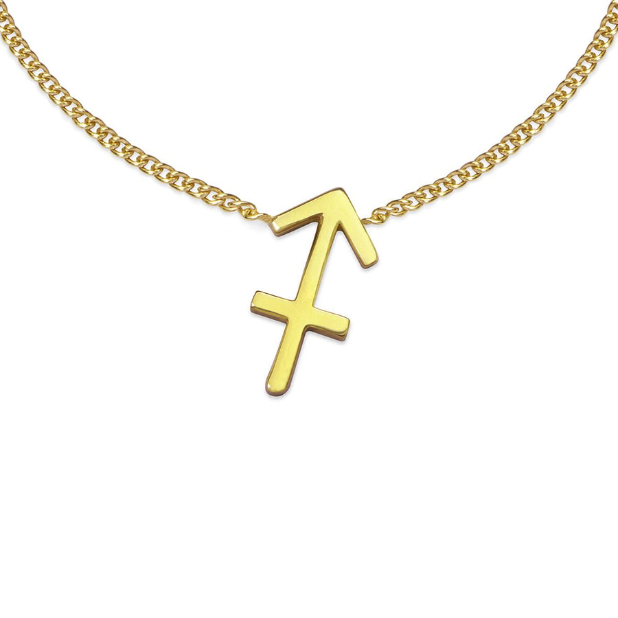 The Ekfrasis Zodiac Sagittarius 18K Gold Plated Silver 925° Necklace
