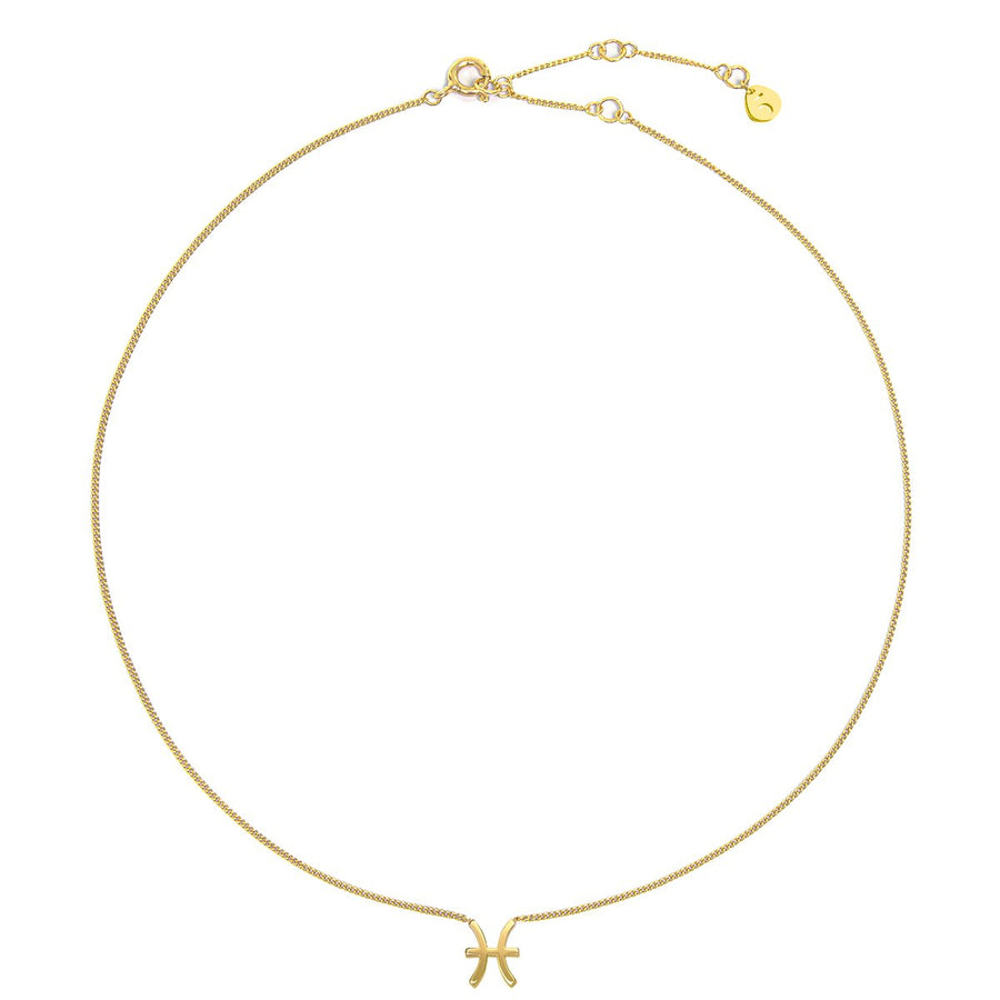 The Ekfrasis Zodiac Pisces 18K Gold Plated Silver 925° Necklace