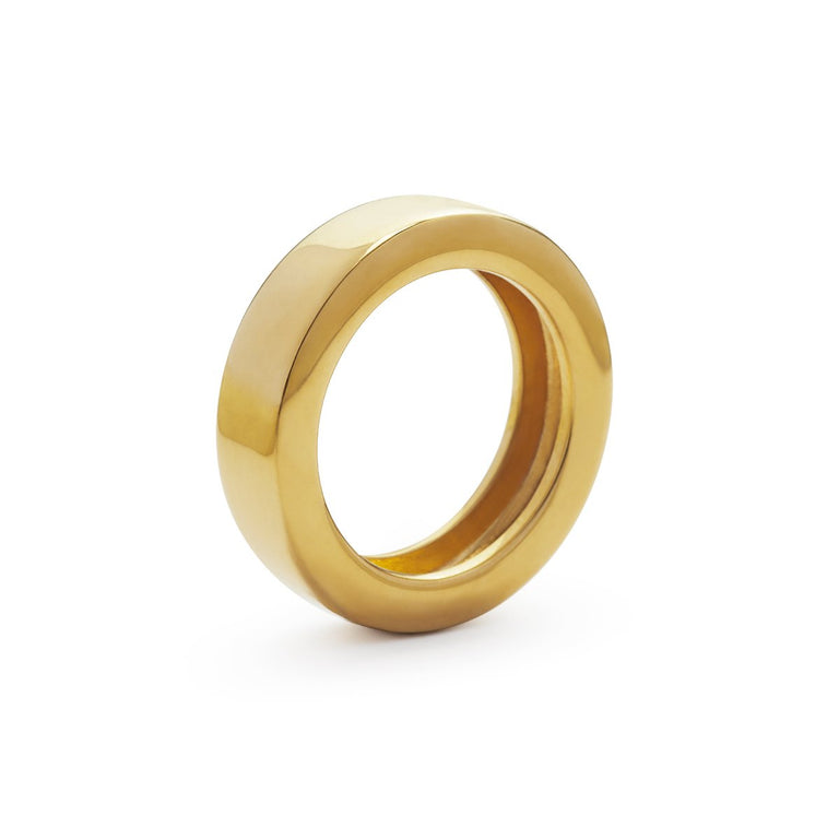 The Essential Forms Round Gold Plated Ring