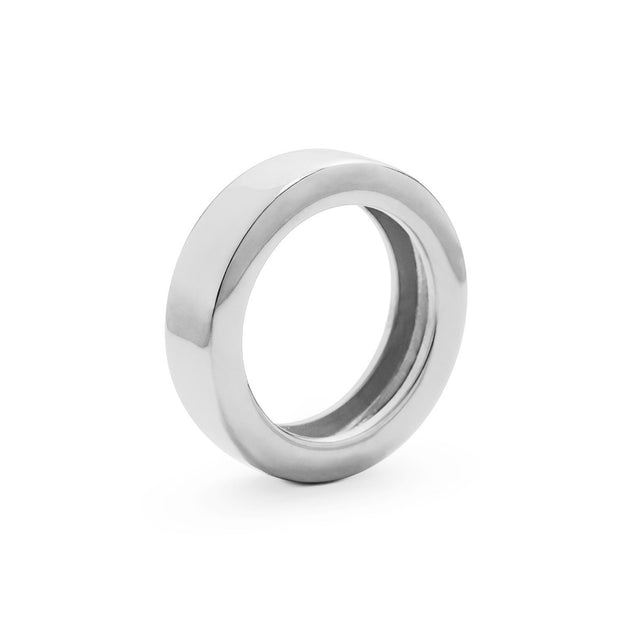The Essential Forms Round Silver Ring