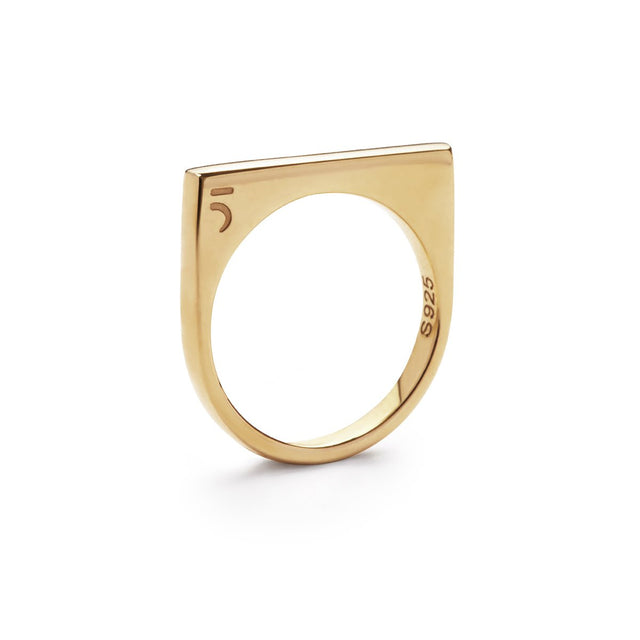 The Essential Forms Triplet Gold Plating Ring