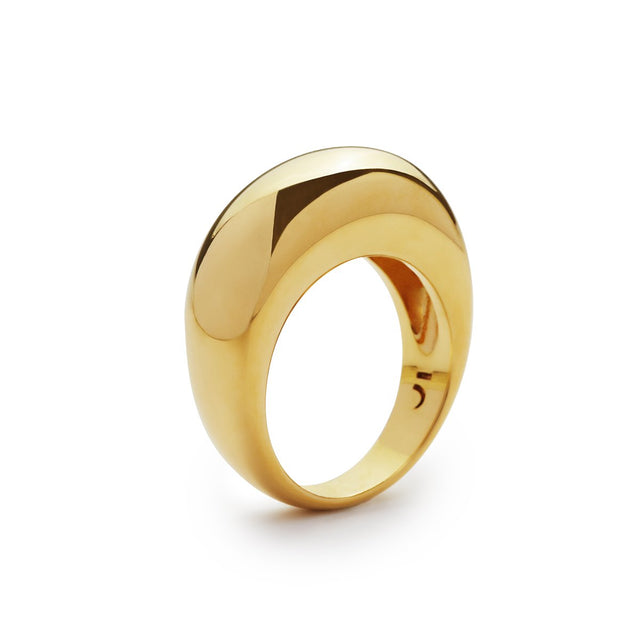 The Essential Forms Bulky Gold Plated Ring