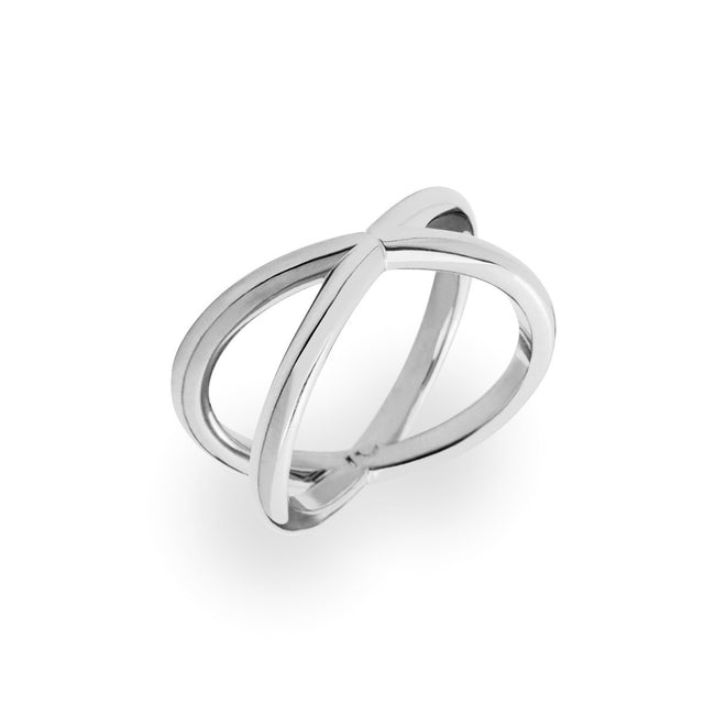 "The Essential Forms ""X"" Silver Ring"