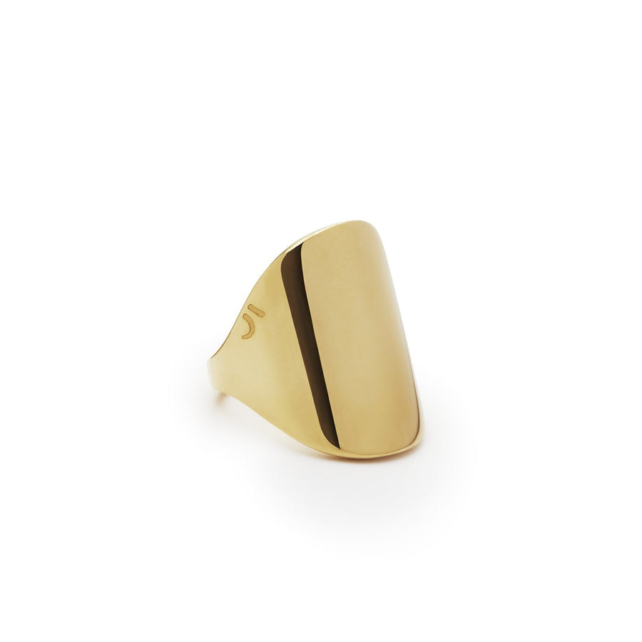 The Essential Forms Oval Chevalier 18K Gold Plated Silver 925° Ring