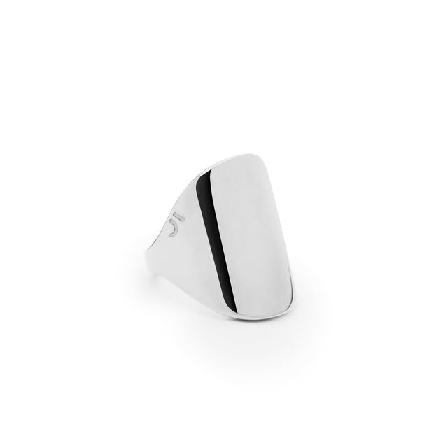 The Essential Forms Oval Chevalier Silver Ring