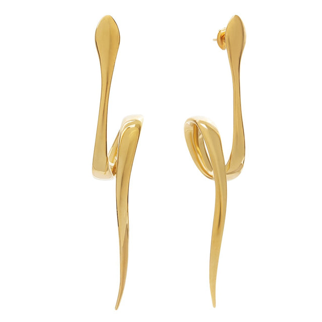 The Essential Snakes Gold Plated Earrings