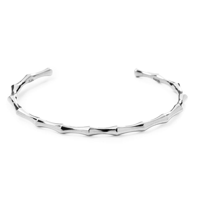 The Essential Bamboo Silver Bangle