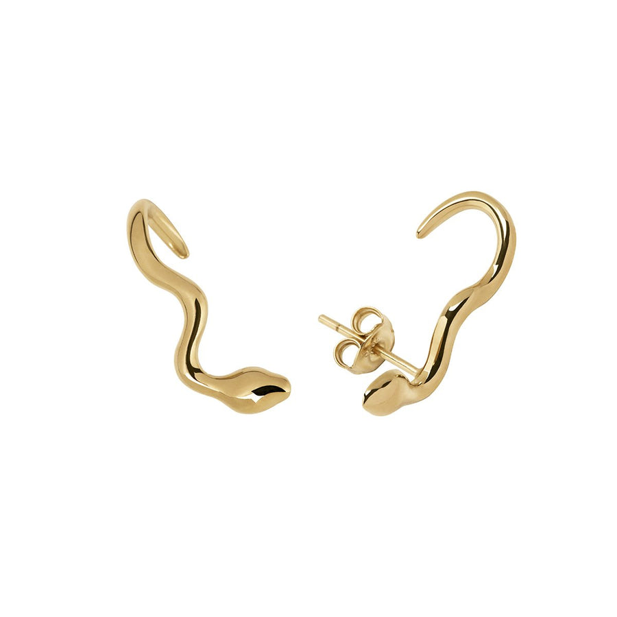 The Essential Snakes Small Studs 18K Gold Plated Silver 925° Earrings