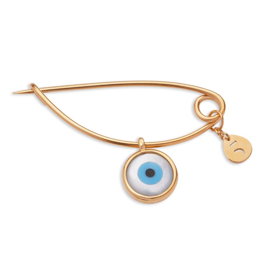 The Newborn Evil Eye 18K Gold Plated Silver 925° Pin