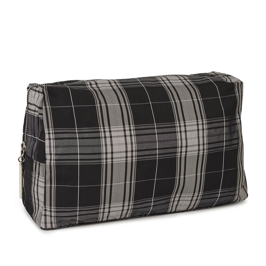 The Accessories Nécessaire checkered Grey, Large