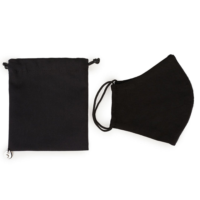 Set of: Pouch with Covid Mask, Black